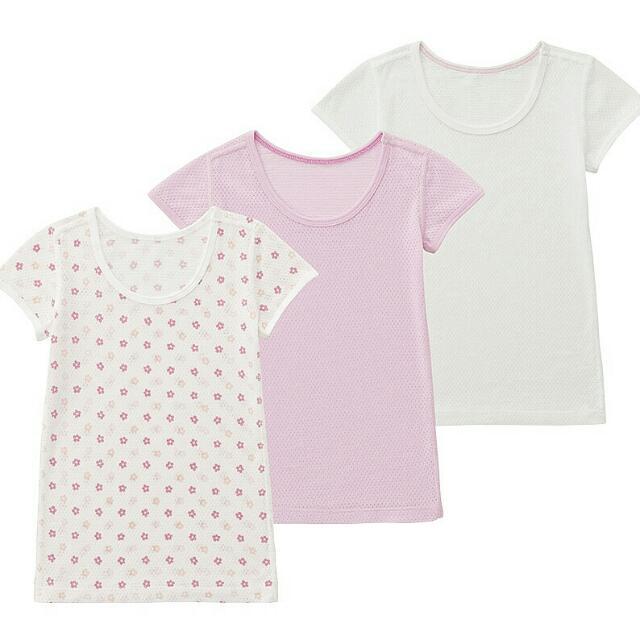 Uniqlo Baby Mesh Tshirt Pink