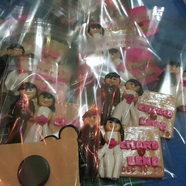 wedding ref magnet souvenirs polymer clay