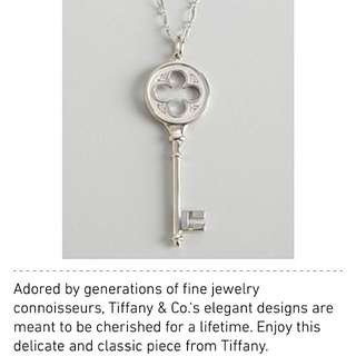 Tiffany Clover Key Pendant And Chain