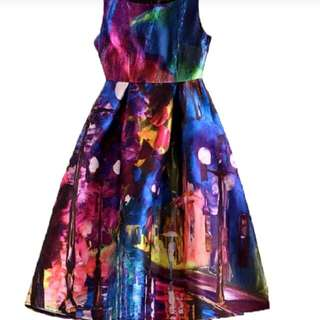 A LINE  Dress - Multi Colour