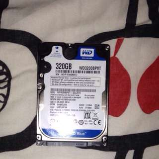 WD HardDrive 320gb