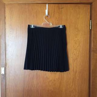 Princess Highway Pleated Navy Mini Skirt