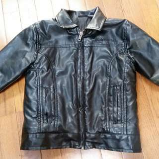 Calvin Klein faux-leather Coat Boys Size 3
