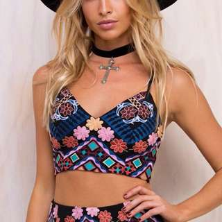 Princess Polly Embroidered Crop