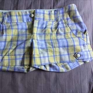 Yellow Checkered Shorts