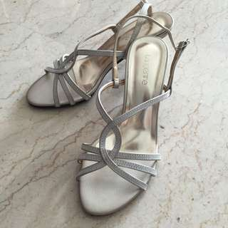 Strappy Dinner Sandals Tangerine Size 5