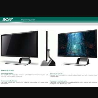 Acer S243HL 24 Inch Monitor