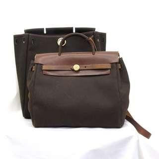 Hermes Herbag Backpack Rose Gold