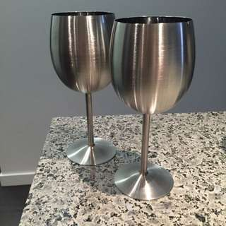 Stainless Steel Wine Glasses - Set Of 6