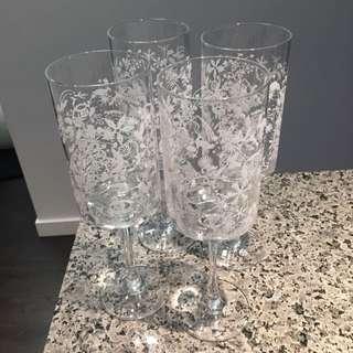 Studio Tord Boontje - Set Of 4 Festive Wine/Cocktail Glasses
