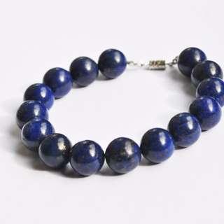 Handmade Semi-Precious Lapis Lazuli Bracelet