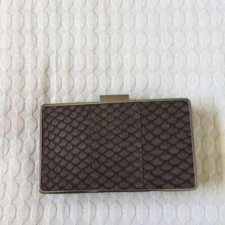 Saba Leather Purple/brown Clutch