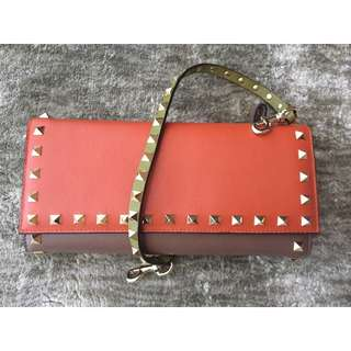 Valentino rockstud wallet with strap