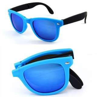 New Men Watch Blue Sunnies With Portable Pocket Bag