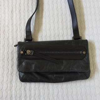 Saba Leather Casual Black Bag