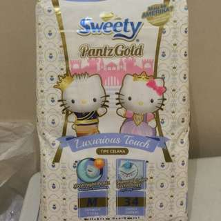 PAMPERS SWEETY PANTZGOLD SIZE M 34 Tipe PANTS