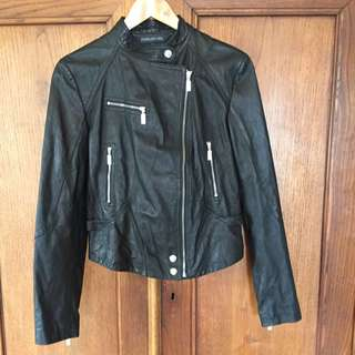 Forever New (REAL) Leather Jacket