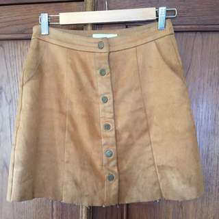 Vera & Lucy Brown Suede Skirt