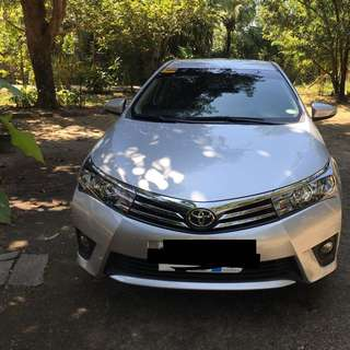 Toyota Altis 1.6G 2016 matic Silver