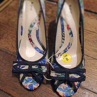 Floral Peep Toe Heels