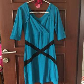 Dress Bahan Katun Spandek Tebal