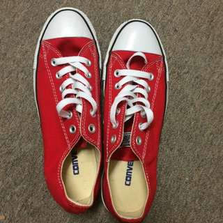 red classic converse sneakers