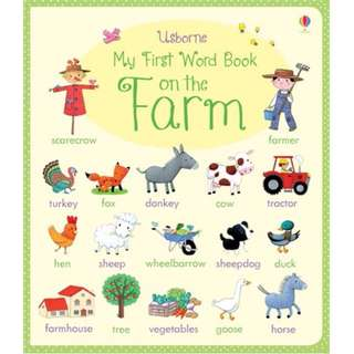 Usborne book*Hard Cover*Lift Flap book*Look inside*Children book*encyclopedia*Gift*Educational*Pre schooler*Picture dictionary*My First Word book on the Farm