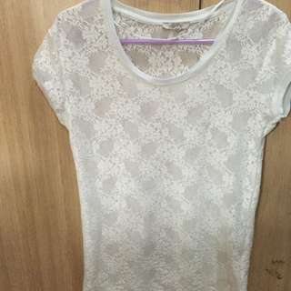 White Zara crochet Top
