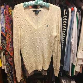 BNWOT Ralph Lauren Cable Knit Jumper Cream Size L 12-14