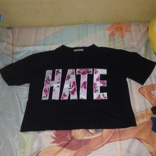 Crop T-shirt HATE