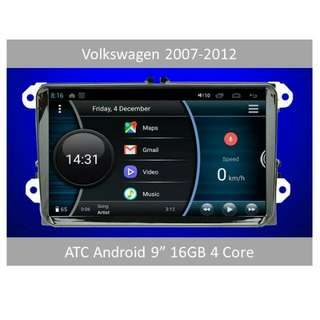 "ATC Android 9"" Volkswagen Selected Headunit 2DIN"