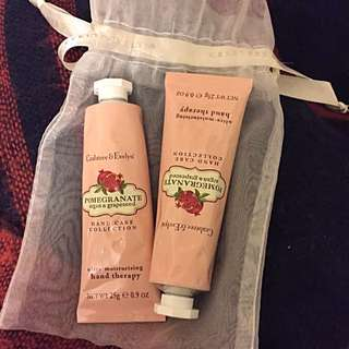 Crabtree & Evelyn Pomegrante Hand Lotion X 2