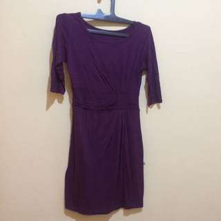 Stretch Purple Dress