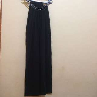 Long Black Dress Cotton