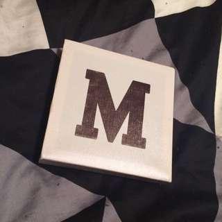 Letter 'M' Canvas
