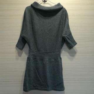 [全新]鐵灰色毛衣洋裝