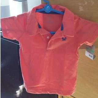 BNWT Carters orange shirt for 18months