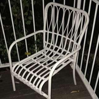 White Cane Chair