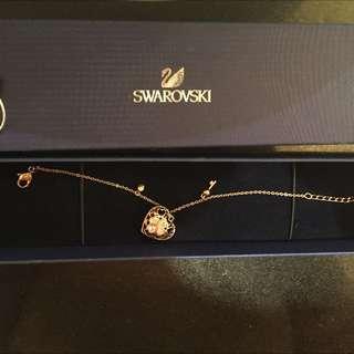 Swarovski sweetheart gold and diamond bracelet