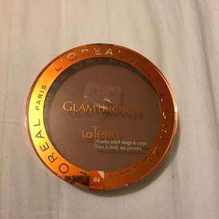 FREE SHIP. L'OREAL PARIS Glam Bronze La Terra 18 g 04