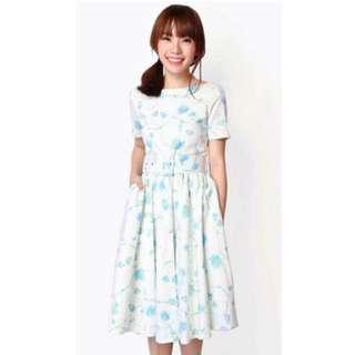 *PRICE REDUCED* AforArcade Allie Belted Midi Dress in Floral [L]
