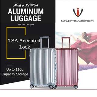 20' Cabin Size Aluminium Luggage Bag TSA Approved