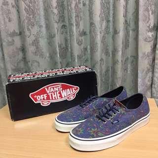 Vans Medieval Blue Authentic 藍 紫色 變形蟲 滑板鞋 休閒鞋 90s Era 可參考