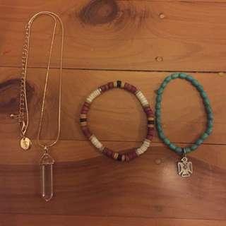 Necklace+bracelets