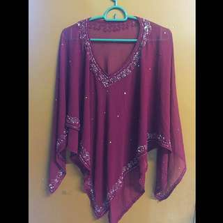 Maroon Sequence Top