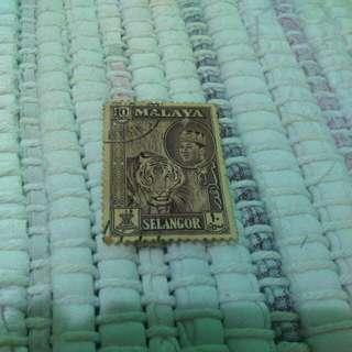 Old Malaya Selangor Stamp Setem