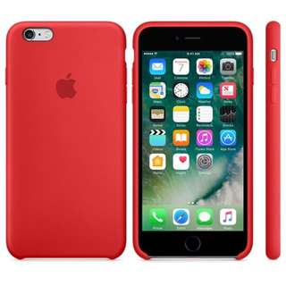 Official Original iPhone 6 / 6s Silicone Case - (PRODUCT)RED