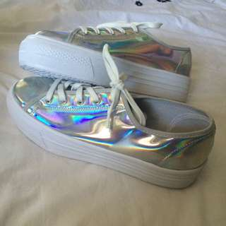 TopShop Holographic Sneakers