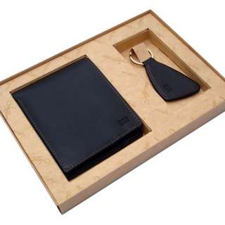 Leather wallet  & Key ring (With your name engraved on it)