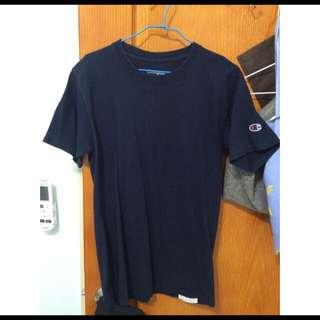 正版ChampionT恤(黑色和深藍)